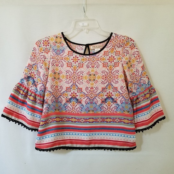 79754dd6396c8 Band of Gypsies Shirts & Tops | Zoe Rose Bell Sleeve Crop Top | Poshmark